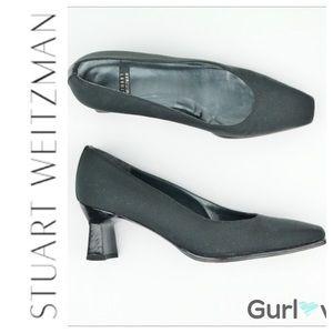 Stuart Weitzman Marymid Black  Pump/Funky Heel